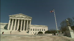 Pan Supreme Court WS (dirty lens) Stock Footage