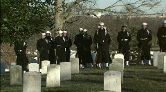 Pan Soldiers to casket Stock Footage