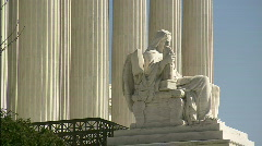 Statue Supreme Court profile alt Stock Footage