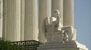 Stock Video Footage of Statue Supreme Court profile alt