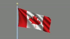 Flag of Canada Stock Footage