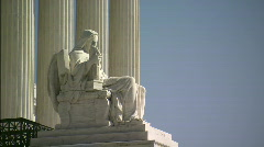 Statue Supreme Court profile less DOF alt Stock Footage