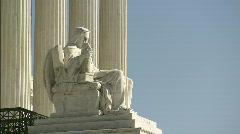 Statue Supreme Court profile Stock Footage