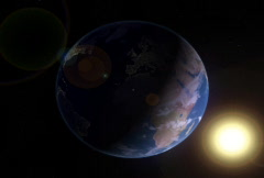 Looping Earth Rotates Day to Night with Sun - SD Stock Footage