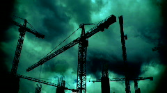 Construction cranes HD 1080i Stock Footage