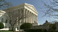 Supreme Court Winter profile Stock Footage
