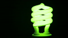 Green Energy Saving Light Bulb Glowing - Alternative Energy Stock Footage