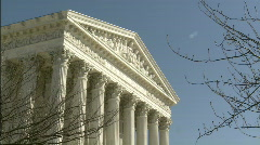 Supreme Court winter zoom to Equal Justice Stock Footage