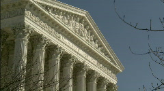 Supreme Court winter zoom to Equal Justice1 Stock Footage