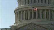 Tilt up Capitol Bulding DC Stock Footage