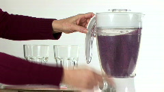 pouring smoothie - stock footage