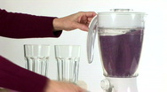 Pouring smoothie Stock Footage