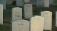 Softfocus pan to CU tombstone Stock Footage