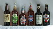 Beer bottles - static Stock Footage