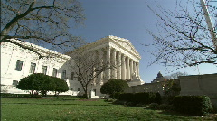 Zoom in Supreme Court Winter profile1 Stock Footage