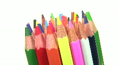 HD1080i Color Crayons rotate Stock Footage