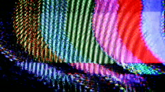 Cinema film celluliod television static distortion Stock Footage