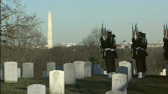 Soldiers March Wash Monument Stock Footage