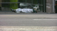 Stock Video Footage of Homeless man.