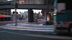 City Drive By Stock Footage