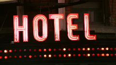 Hotel sign. Stock Footage