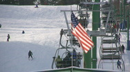 Stock Video Footage of Ski Lift On A Ski Hill