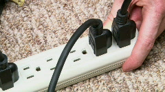 Power Surge Extension Cord Stock Footage