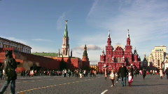 Red Square October 10 2008 in Moscow Russia. - stock footage