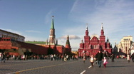 Stock Video Footage of Red Square October 10 2008 in Moscow Russia.