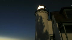 Timelapse of stars above the detail of a lighthouse - stock footage