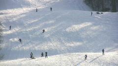 Ski Run Stock Footage