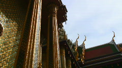 Thai temple guardian, Wat Phra Kaew Stock Footage