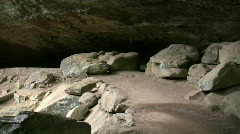Old Man's Cave at Hocking Hills, Ohio Stock Footage