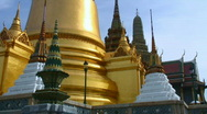 Stock Video Footage of Thai temple stupa, Wat Phra Kaew