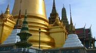 Thai temple stupa, Wat Phra Kaew Stock Footage