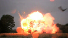 Car Explosion, HD 720 Stock Footage