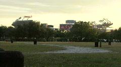 Raymond James Stadium - Home Of Superbowl XLIII - stock footage