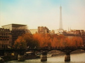Bridge over River Seine Paris (NTSC) Stock Footage