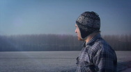 Winter Man Stock Footage