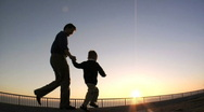 Father and son Stock Footage
