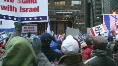 Chicago Pro-Isreal Rally 1/9/09 Stock Footage