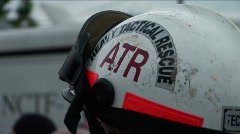 Rescue Helmet - stock footage