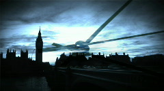 London Business montage Stock Footage