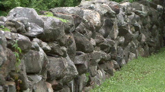 Old Stone Wall 01 Stock Footage