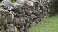 Stock Video Footage of Old Stone Wall 01