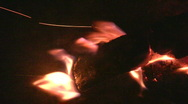 Fireplace burning flames vertical orientation 6  Stock Footage