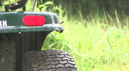 Tractor In The Rain 03 Stock Footage