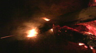 Fireplace burning flames vertical orientation 7  Stock Footage