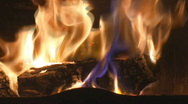 Stock Video Footage of Fireplace full of firewood