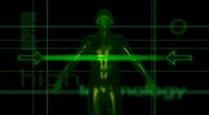 Stock Video Footage of Hitech Male Medical Scan - Hitech Background 01B(HD)